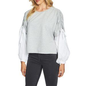 NWT Nordstrom 1.STATE Drawstring Sleeve 2fer Top
